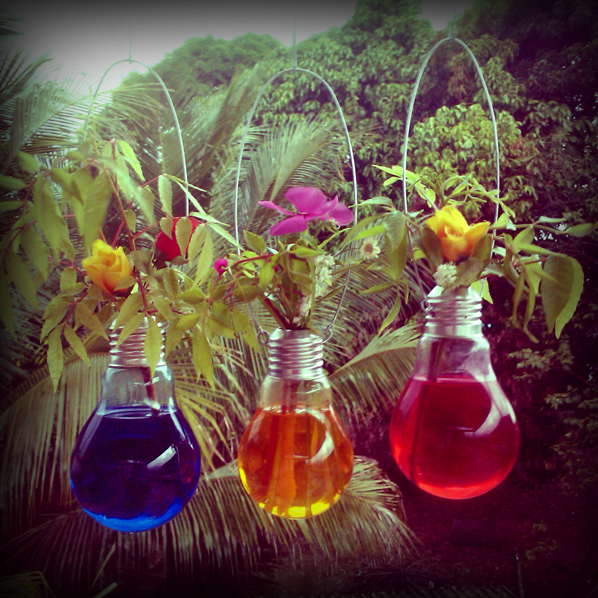 decoracao para lampadas : decoracao para lampadas:Lâmpadas e Decoração – Aprenda Reutilizar e Fazer um Lindo Arranjo