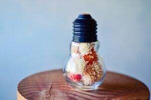 Saiba como montar um lindo arranjo com lâmpadas