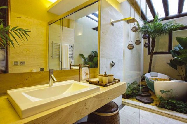 Jardim de Inverno  Decorando Ambientes Internos com Requinte -> Banheiro Pequeno Com Jardim De Inverno