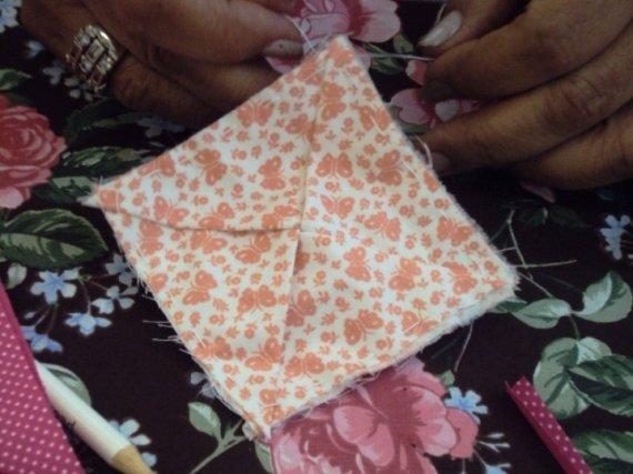 Flor de Tecido - Passo 1