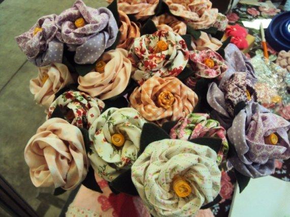 Flores em Tecido - Flores prontas