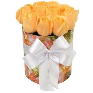 Arranjos de flores criativos - encantadoras rosas champanhe