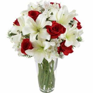 flores-e-chocolates-lirios-com-rosas