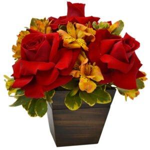 Arranjos de Flores - Arranjo Mix de Flores Nobres