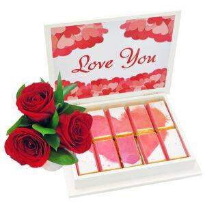 Caixa Elegante Love & Rosas