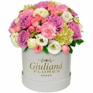 Majestoso Mix de Flores Rose White - Decorar a sala de estar
