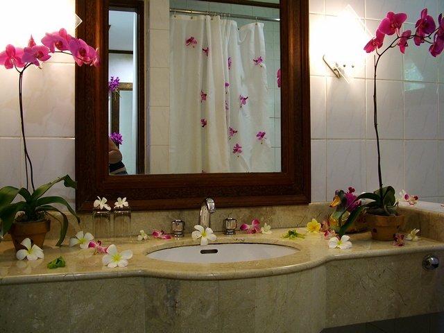 Confira Dicas de Como Decorar o Banheiro com Flores -> Decorar Banheiro Flores