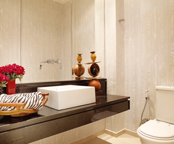 Confira Dicas de Como Decorar o Banheiro com Flores -> Decoracao De De Banheiro