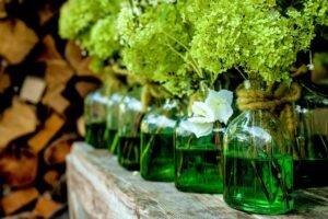 decorar as garrafas de vidro