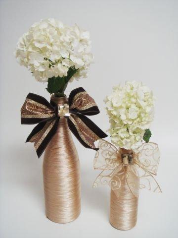 Flores em garrafinha