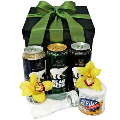 Presente de Orquídeas e Cerveja