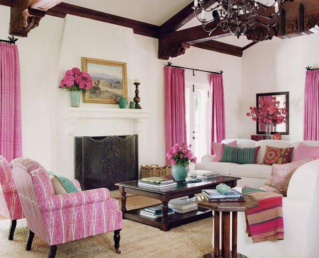 Sala de estar com flores