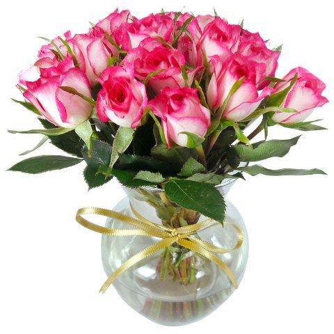 Vaso de rosas Midi Rosa