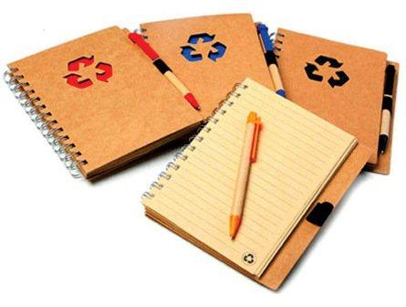 Blocos de papel reciclado