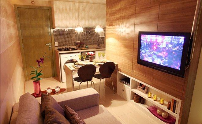 Aprenda a fazer decora o de ambientes pequenos com flores for Como decorar un piso pequeno moderno