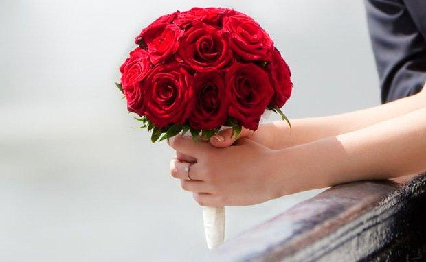 Buquê de noiva - Rosas vermelhas