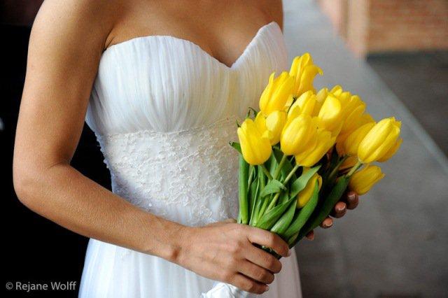 Buquê de noiva - tulipa amarela
