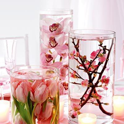 Arranjos de Flores para Mesa com flores submersas