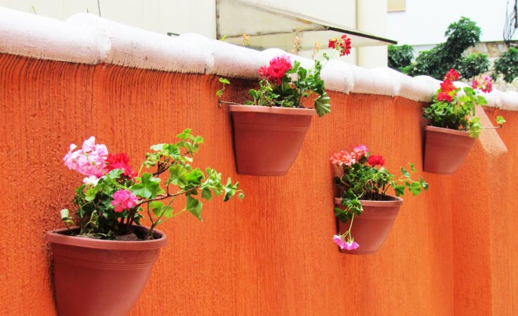 Arranjos de Flores na parede
