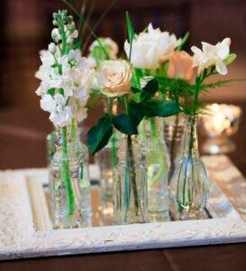 Arranjos de flores para mesa pequenos