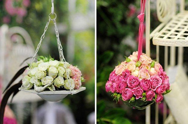 Arranjos de Flores para Mesa suspensos
