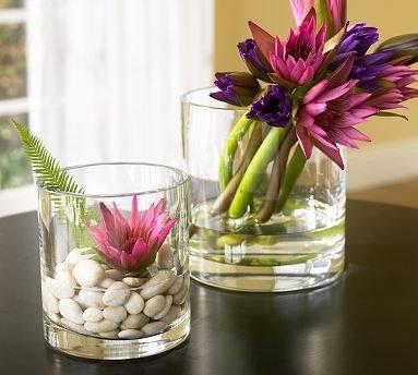 Arranjos de Flores para Mesa usando copos