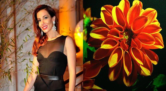 Tania Khalill como Dália e Flor Dália Laranja