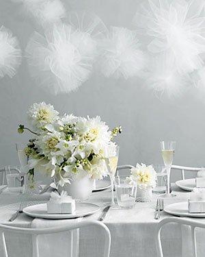 Ano novo com flores brancas