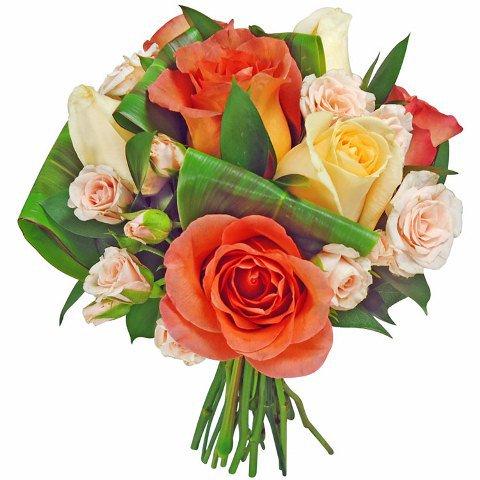 Buquê de Rosas Salmão