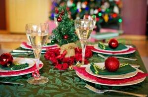 decoração de mesa de natal: toalhas e guardanapos