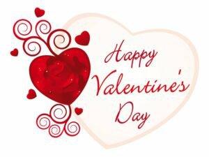 mensagem de Valentine's Day simples