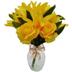 flores-artificiaisr-lirios-amarelos