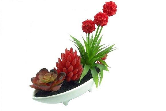 jardim rosas vermelhas:jardim mix de flores vermelhas artificiais