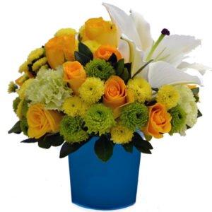Black Friday Mix de Flores & Vaso Color Blue