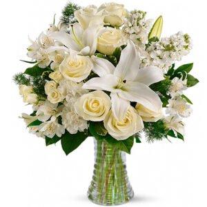 Flores brancas para o reveillon - Luxuoso carinho