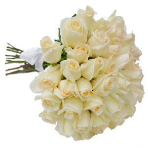 Significado da Rosa Branca - Buque de Rosas Brancas