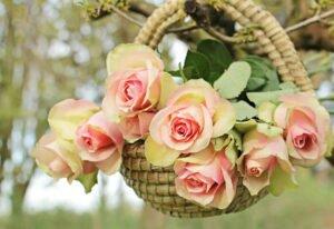 cesta com rosas curiosidades sobre o dia das mães