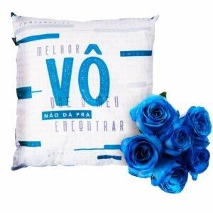 Kit Melhor Vô e Rosas Azuis Uatt