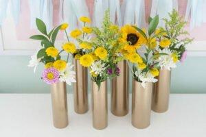 Flores em Cano PVC