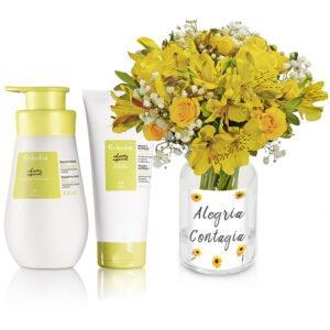 Presente para Debutante - Natura Tododia Flor de Laranjeira e Poesia Yellow