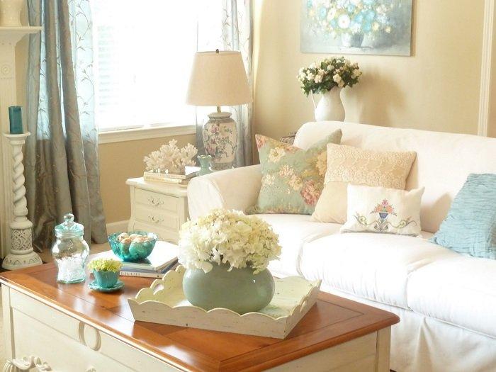 decorar sala com flores brancas