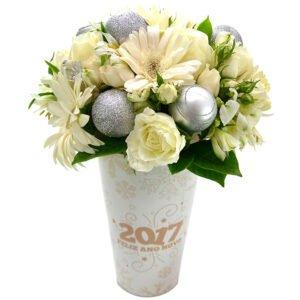 Mix de Flores Feliz Ano Novo