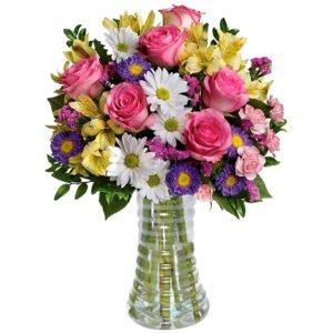 Luxuoso Mix de Flores do Campo no Vaso