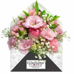 Envelope de Flores Cor de Rosa