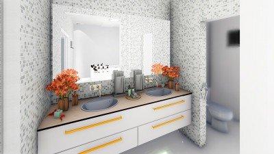 aprenda decorar o banheiro com flores