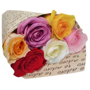 Dia da Amizade - Para Dizer Que Te Adoro Com Rosas Coloridas