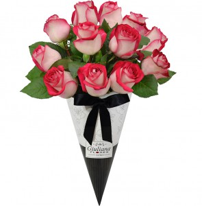 Bodas de Namoro - Magnifico Cone de Rosas Mescladas