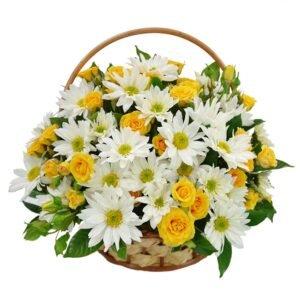 como-montar-um-vaso-de-flores-margaridas-amarelas