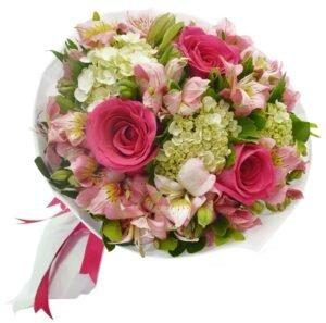 Buque Carinho de Rosas Pink