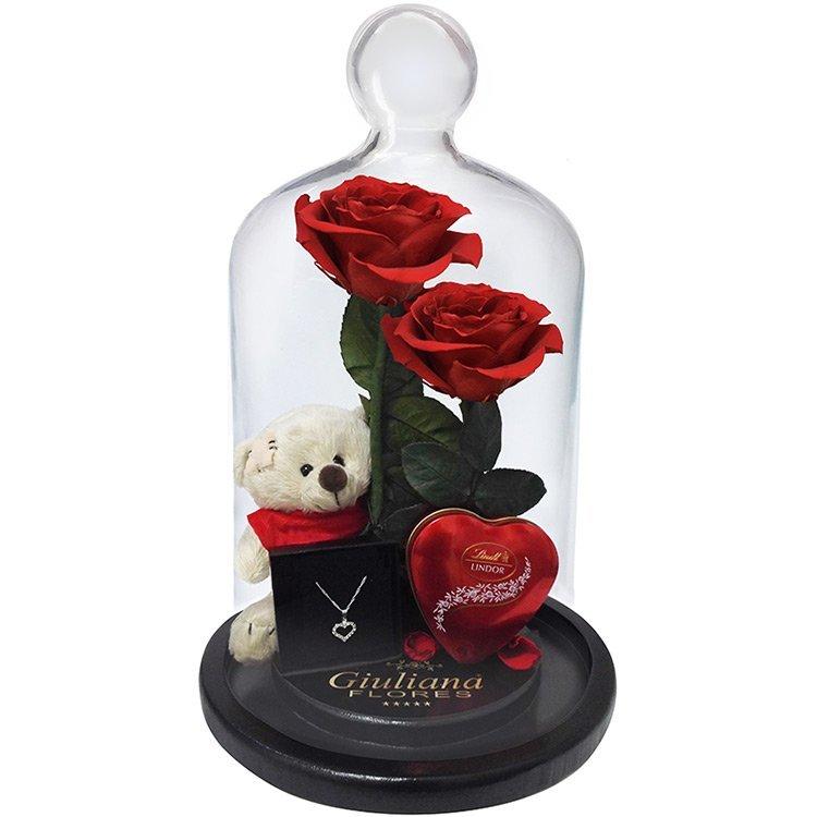 Jardim das Rosas Vermelhas Gift - rosa encantada